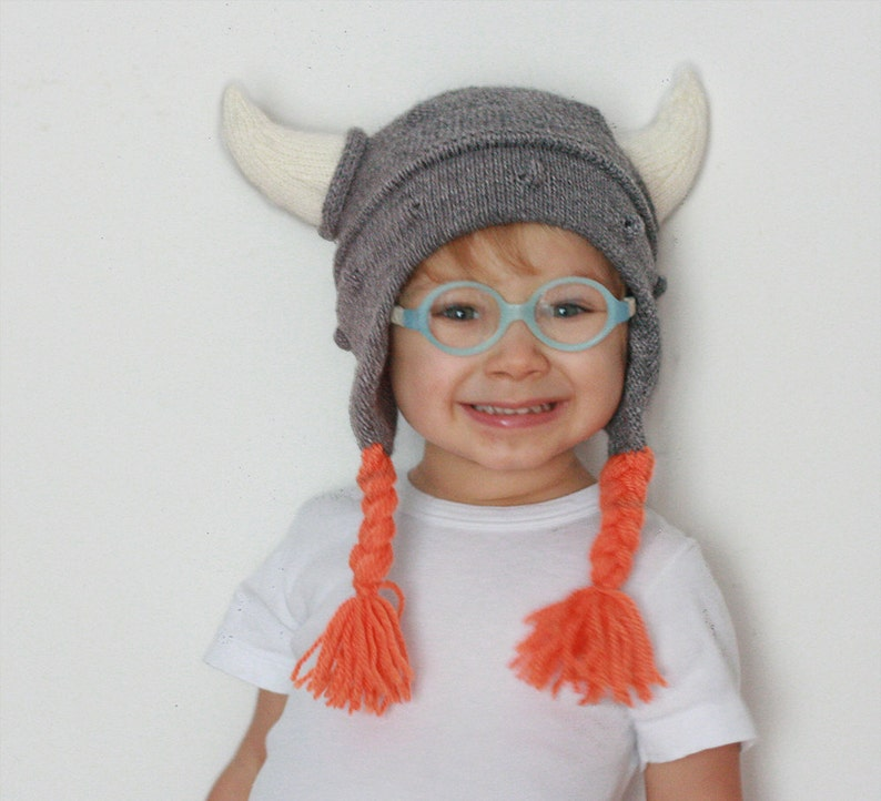 cce5709a0ac Kids Viking hat Viking hat with hornes Child knit hat