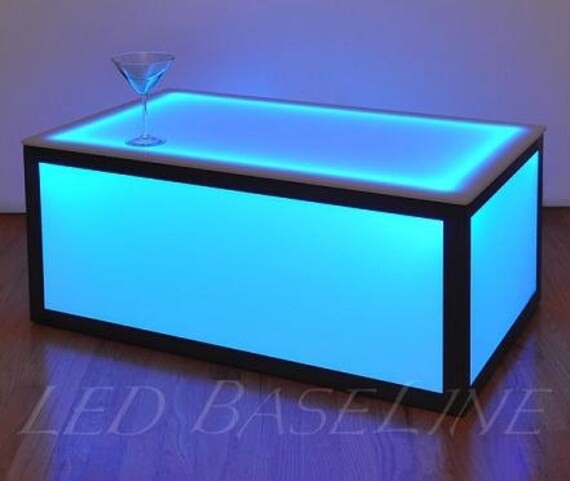 16 Color Changing Cube Coffee Table Display Glass
