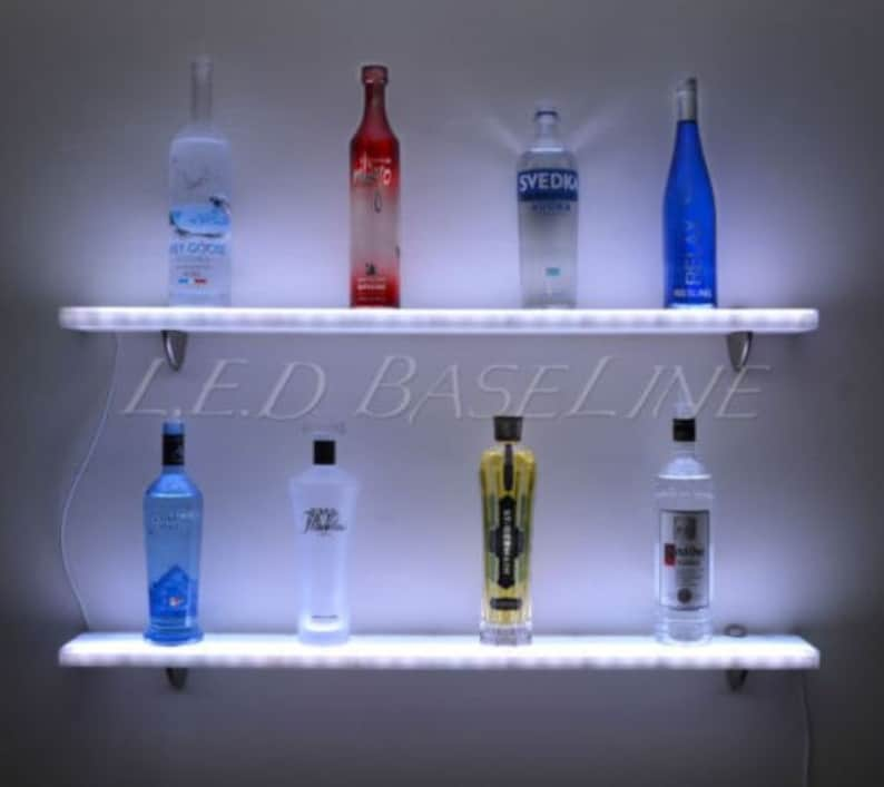 76 Liquor Bottle Display Wall Shelf Home Bar Products And Etsy