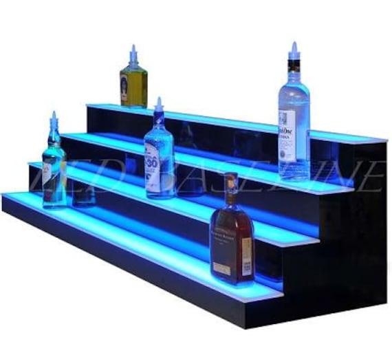 3 Tier Blu Acrilico Display vendita al dettaglio da Collezione Espositore Perspex scaffali