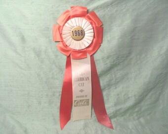 Cat prize ribbon 1968 / vintage rosette Cats magazine award