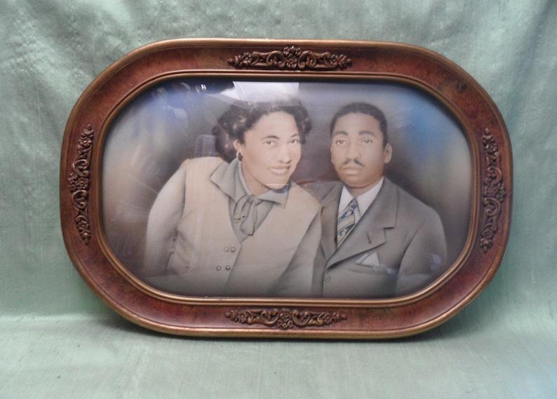 Picture Frames Nice Antique Convex Bubble Glass Picture Frame Couple