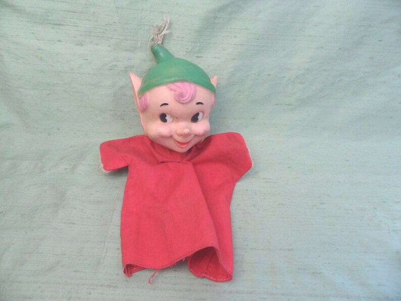 As Is pixie hand puppet  1959 Kresge   vintage   Holiday Pixie Toy