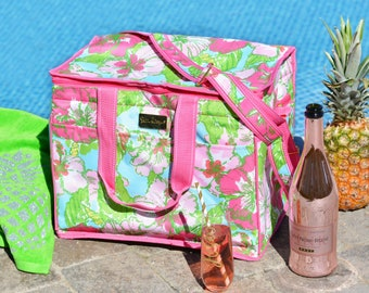 Monogrammed Lilly Pulitzer Insulated Cooler Bag, Monogrammed Beach Cooler, Authentic Lilly Pulitzer Bag, Bridesmaids Gifts