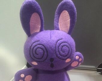 Rabbit Bunny Plush Plushie Toy Huh the Purple Rabbit