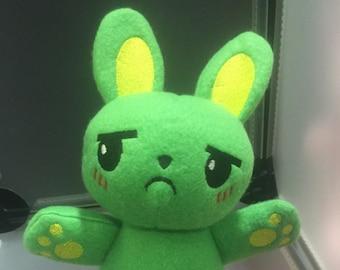 Rabbit Bunny Plush Plushie Toy Irving the Green Rabbit