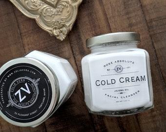 Cold Cream Cleanser | Sensitive Skin Cleanser |  1920s Makeup | Rose Oil | Face Wash | Cold Cream | 1940s Makeup | Vintage Lover Gifts