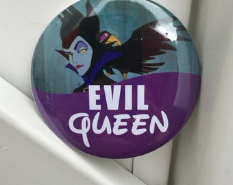 EVIL QUEEN Disney button