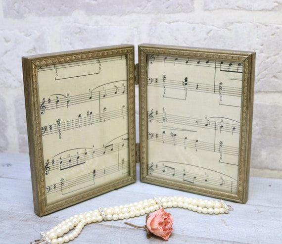 Double Picture frame 4 x 5 inch metal photo frames