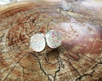 cupcake faux druzy earrings
