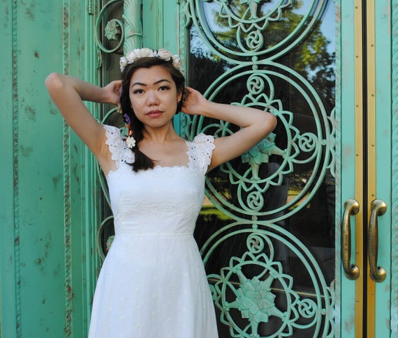 Wedding Dress - Boho Wedding Dress, White Wedding
