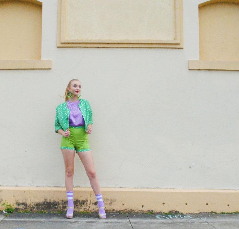 Green Polka Dot Hot Shorts