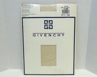 8a91e51402179 1993 Givency Body Gleamers Pantyhose Stockings, La Creme, Size C, Shimmery  Ultra Sheer Leg, Unopened Package, Vintage Clothing Hosiery