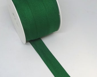 1 Inch EMERALD GREEN Twill Tape, By the YARD, Polyester, For Sewing Projects, Home Decor, Crafts, Millinery, Notions, Christmas Decor