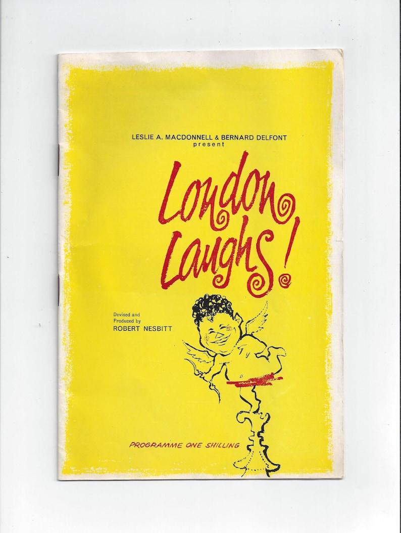 Drama Arts Memoriabilia Advertising England Vintage Theater Ephemera 1966 Playbill Book for London Laughs at London Palladium