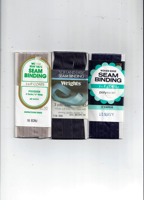 New Vtg J /& P Coats Stretch Lace Seam Binding U Choose Color 3 yds Nylon ***