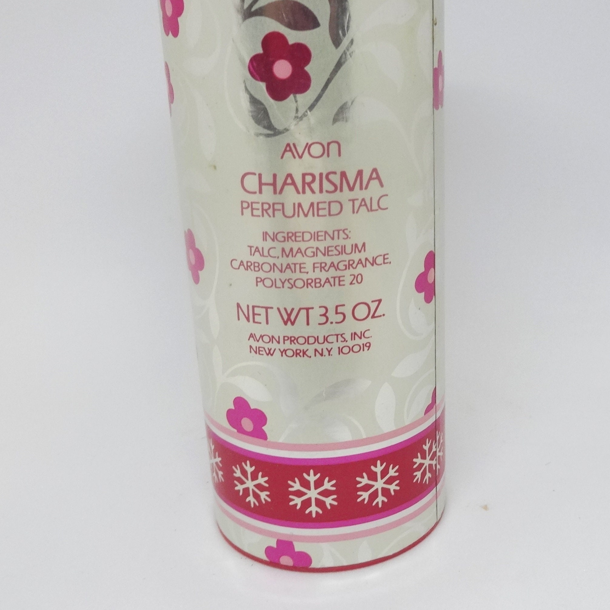 1970s Avon Charisma Perfumed Talc About 1/3 to 1/2 Content