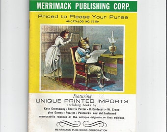 Merrimack Publishing Corp. 1970s Catalog No. 73 for Old Fashioned Children's Books, Playing Cards, Greeting Cards, Puzzles, & Paper Goods