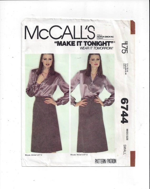 McCalls Ladies Sewing Pattern 6993 Vintage Style Skirts ... Free UK P/&P