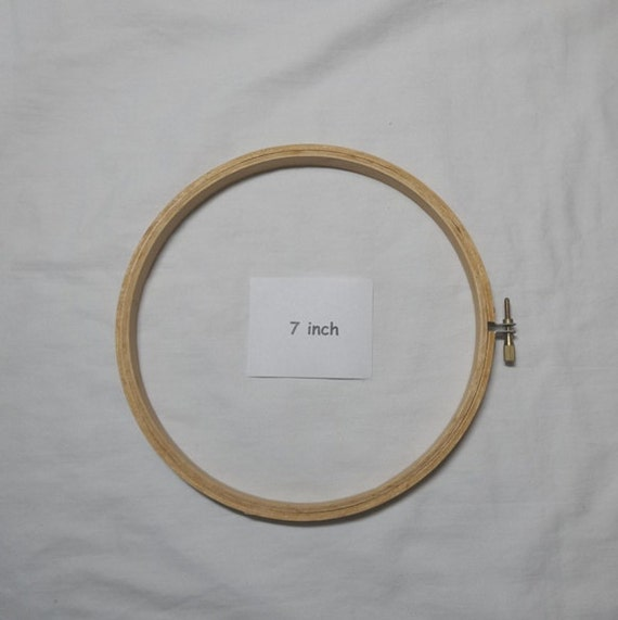 7 Inch Bamboo Embroidery Hoop With Metal Screw Tightener Made Etsy
