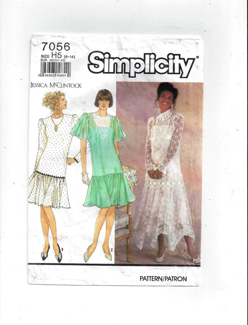 Simplicity 7056 Pattern For Jessica Mcclintock Loose Fitting Etsy