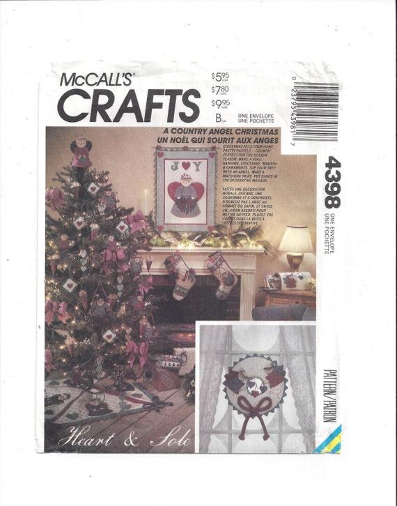 7864 UNCUT McCalls Vintage SEWING Pattern Christmas Santa Angel Stockings Decor
