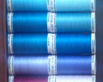 1 Spool of Gutermann Cotton Hand Quilting Thread, 220 Yards, Many Colors Available, Home Sewing Thread, Sewing Notions, Quilt Thread