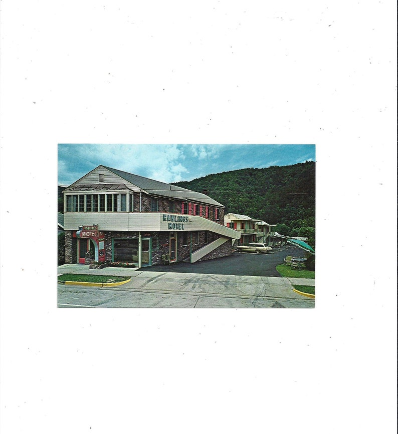 FREE Shipping to USA, 1960s Rawlings Motel Postcard, Gatlinburg, Tennessee,  Unposted, Near Great Smoky Mountains Park, Travel Souvenir