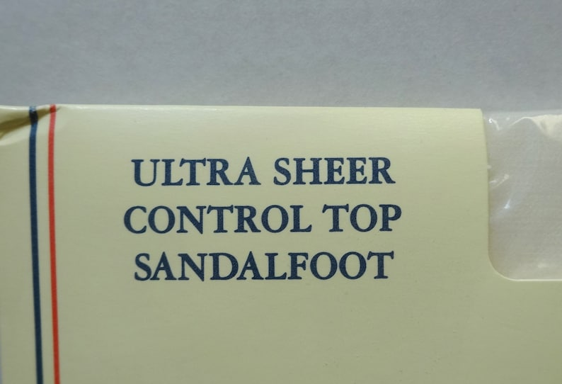 Hook Size Tall 1993 Ultra Sheer Pantyhose Stockings in Ivory by J Vintage Clothing Hosiery Sandalfoot G Control Top Unopened Package