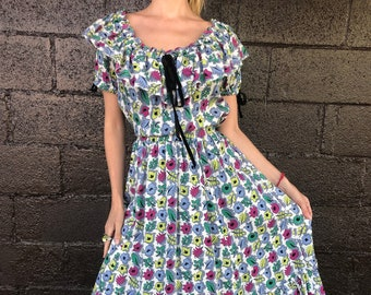 """40's Ditzy Floral Dress by """"Tudor"""""""