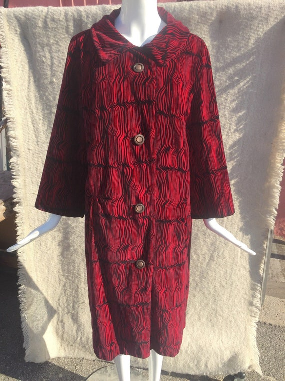 60's Op-Art Velour Coat