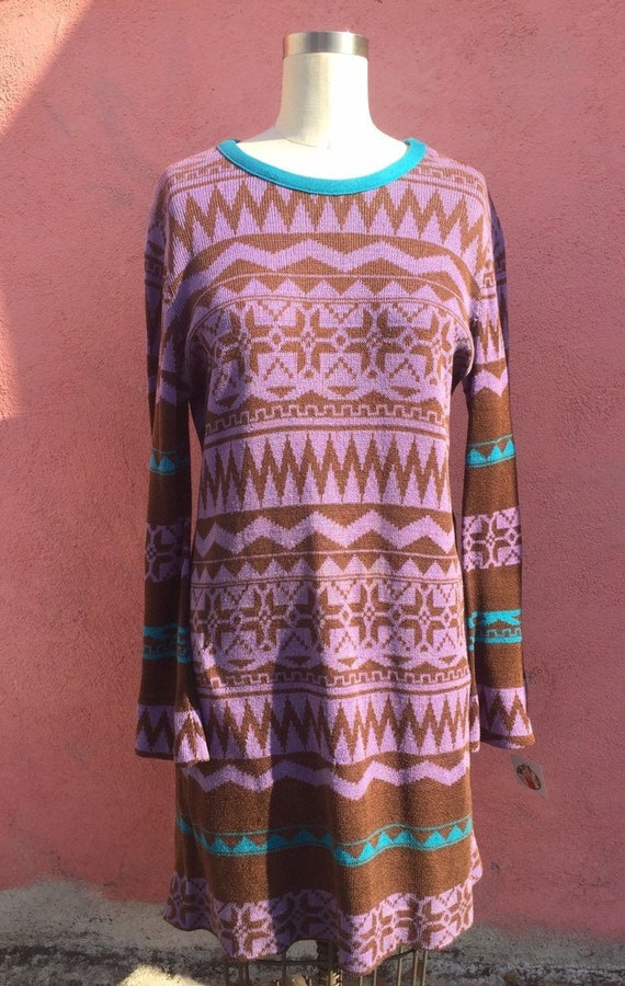 70's Giorgio sant Angelo Multi-Pattern Stripe Knit
