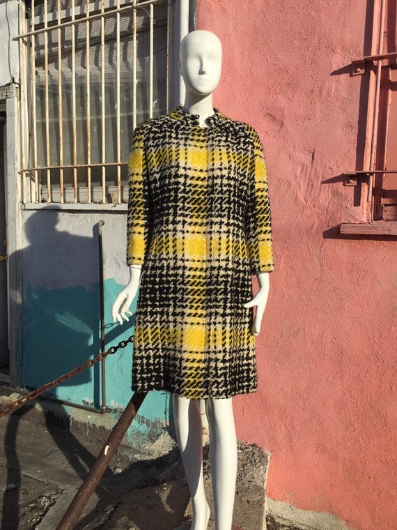 60's B.H. Wragge Oversized Plaid Wool Coat