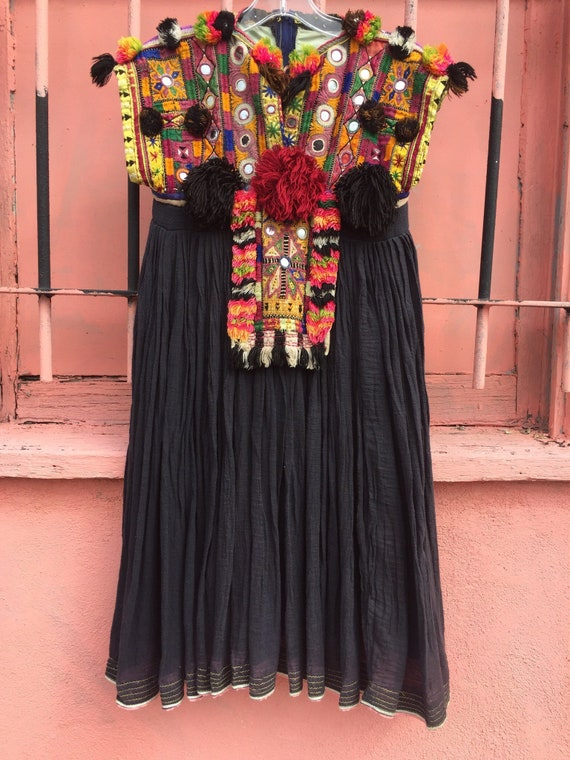 Vintage Afghani Tunic/Dress with Heavily Decorated