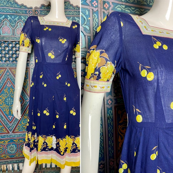 Handmade 50s; 30s inspired cotton dress with adora