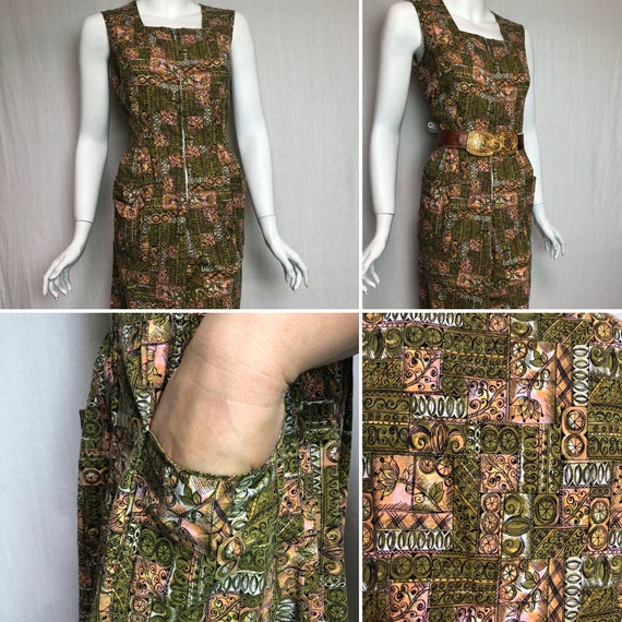 Cotton novelty print 1950s jumpsuit