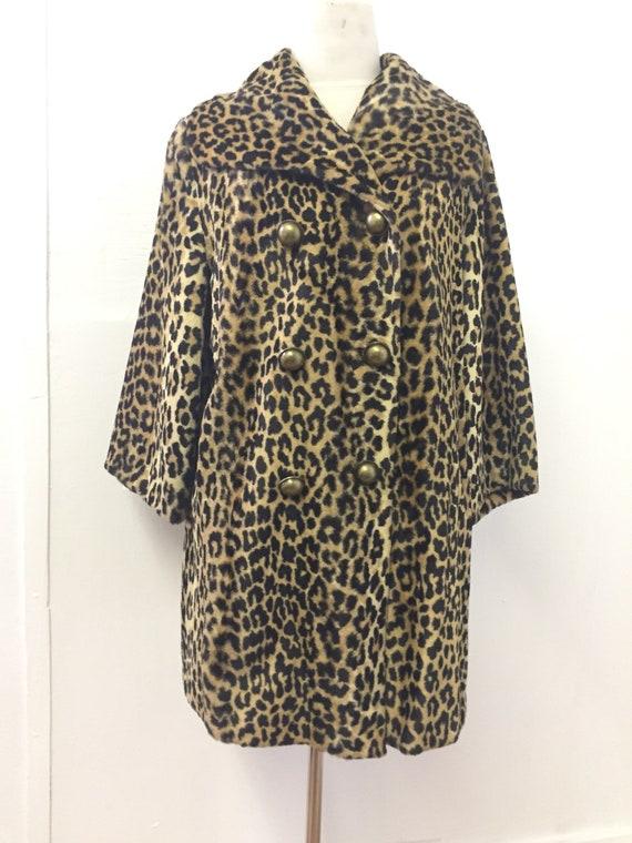 60's Faux Leopard Jacket