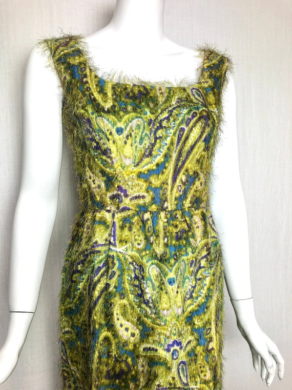 Insane Fabric maxi 60s gown paisley fur