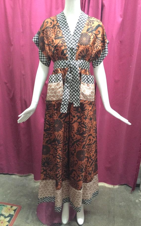 70's Jean Muir Silk Pajama-Style Ensemble