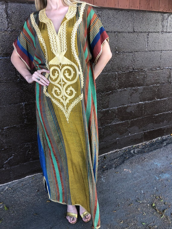 Fabulous kaftan Moroccan soutache with lurex