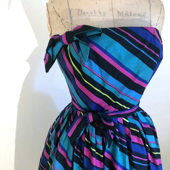 Absolutely Amazing Rappi striped cotton 1950s stra