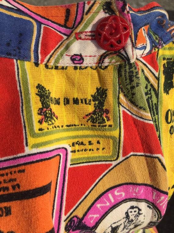 50's Style Liquor Label Novelty Print Skirt - image 10