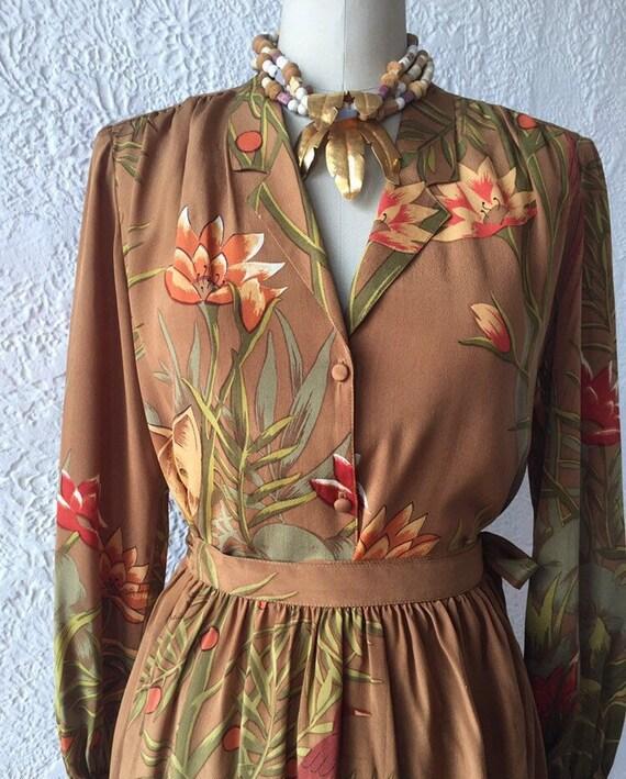 Carole Little for Saint Tropez Jungle Print Silk T