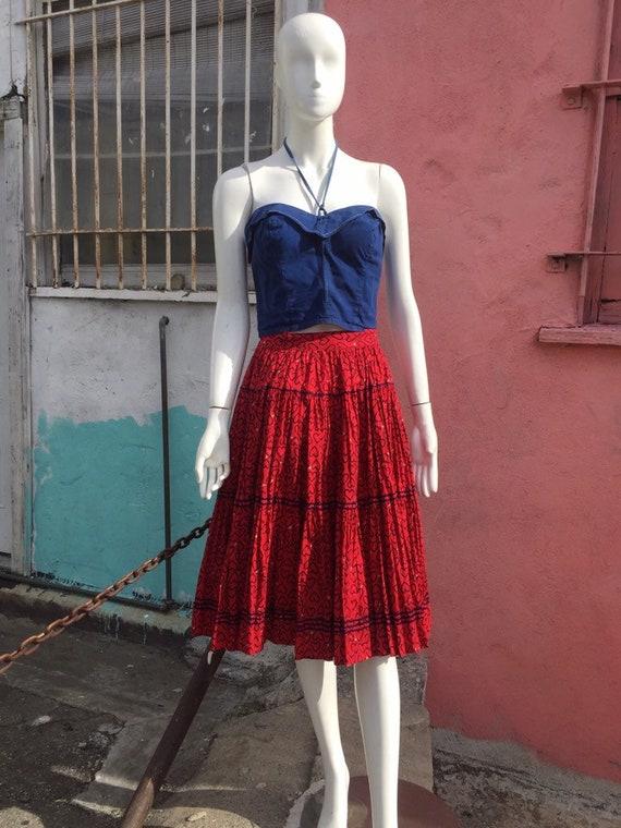 50's Novelty Heart Print Circle Skirt - image 2