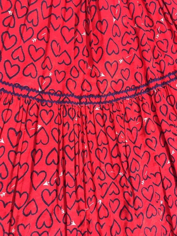50's Novelty Heart Print Circle Skirt - image 3