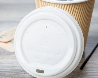 500 counts - 16oz Disposable Ripple Wall hot coffee paper cup with lids