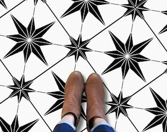 Positano Black Kitchen Bathroom Backsplash Floor Tile Wall Decal Floor Water proof heat proof Removable Peel Stick AntiSkid Tile Stickers