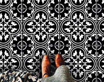 Decalcomanie una parete premium tile tocco artistico di bleucoin