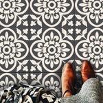 Encaustic Moroccan Tile Wall Stair Floor Self Adhesive Vinyl Stickers,Kitchen Bathroom Backsplash Carrelage Decal, Peel & Stick Home Decor