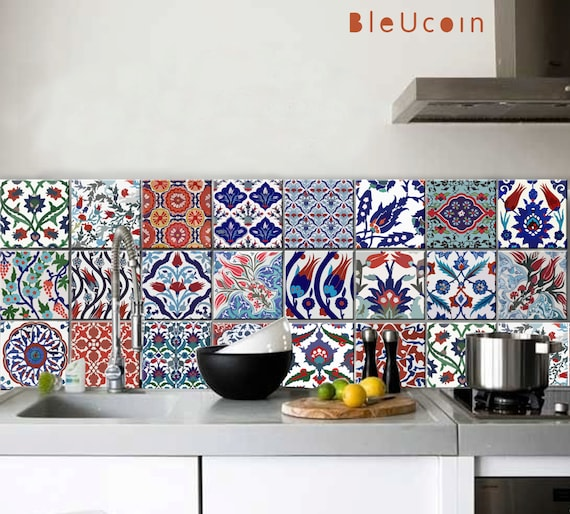 Küche / Bad Türkischen Fliesen / Wand Abziehbilder 22 Designs | Etsy